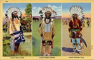 Dewey Beard - Chief Red Cloud, Chief Dewey Beard, and Chief Strong Talk