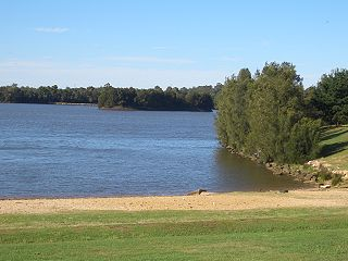 Chipping Norton Lake artificial lake and nature reserve in Sydney, Australia