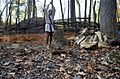 Chopping wood interpeter Monacan Village Indian Tribe Nation-Natural Bridge State Park2 (30681852942).jpg