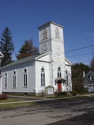National Register of Historic Places listings in Delaware County, New York - Image: Christ Episcopal Church Walton NY Apr 09