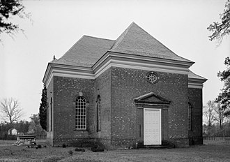 Christ Church (Lancaster County, Virginia) - Photograph taken during the early stages of the restoration of Christ Church