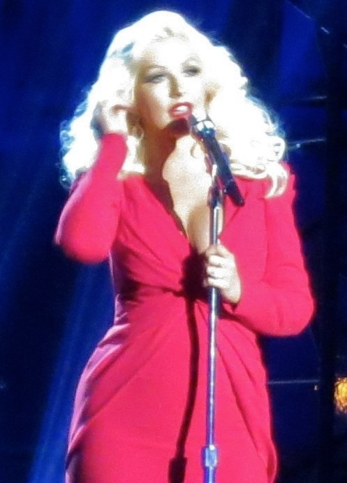 Christina Aguilera at the Breakthrough Prize Scientists, 2014