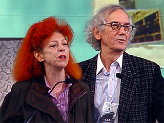 Christo and Jeanne-Claude husband-and-wife environmental installation artist duo