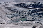 Chuquicamata, the largest open pit copper mine in the world, Chile.