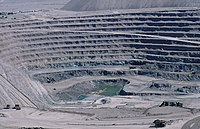 Chuquicamata (Chile). The largest open pit copper mines in the world.