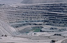 An open-pit Copper mine