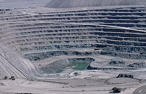 Open-pit mining - An open-pit copper mine in Chuquicamata.