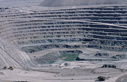 Chuquicamata, Chile, site of the largest circumference and second deepest open pit copper mine in the world. Chuquicamata-002.jpg