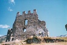 Resti del Castello di Cimbergo dei conti Lodrone distrutto da Bernabò Visconti