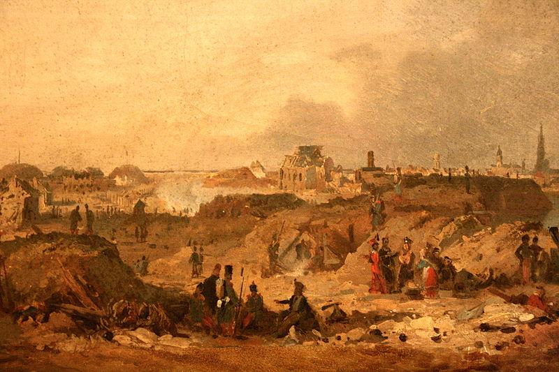 Fichier:Citadelle d'Anvers après le bombardement de 1832.jpg