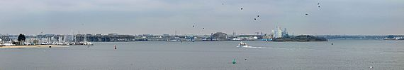 Il porto turistico e la base sottomarina di Lorient