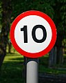City of London Cemetery 10mph speed limit sign 2.jpg