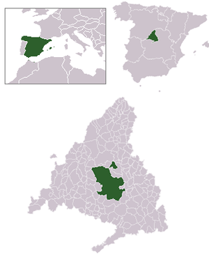 Location of the municipality of Madrid within ...