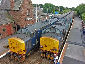 Direct Rail Services - Image: Class 37 meet up