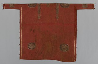 Luxurious Woolen Tunic with Decorated Bandsand Roundels