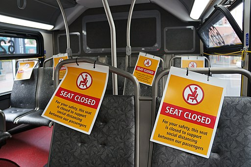Closed seats on King County Metro bus due to COVID-19 pandemic