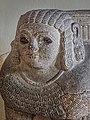 Closeup of basalt column base depicting a sphinx Assyrian 8th century BCE (32125644662).jpg