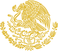 Coat of arms of Mexico (golden linear).svg