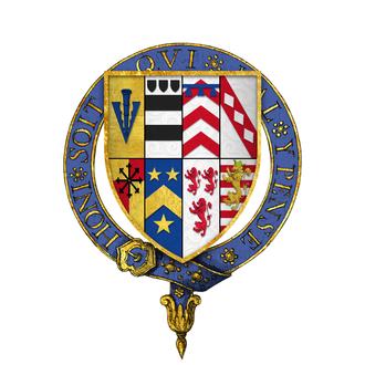 Henry Sidney - Quartered arms of Sir Henry Sidney, KG
