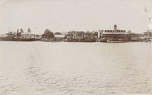 Coatzacoalcos - Coatzacoalcos waterfront, circa 1904