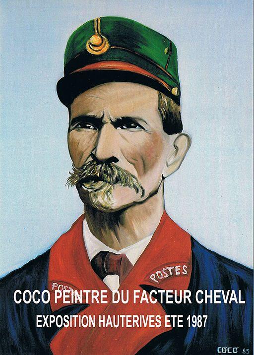 Coco peintre Facteur Cheval au Palais Idéal