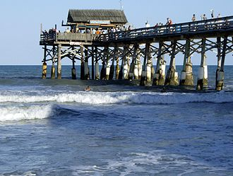 Cocoa Beach, Florida - Cocoa Beach Pier, built in 1962, extends into the Atlantic Ocean