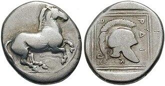 Perdiccas II of Macedon - silver stater Perdikkas II