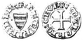 Coins of the Marquisate of Ceva, Coin 2, obverse and reverse.png