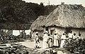 Collectie Nationaal Museum van Wereldculturen TM-60061950 Typische landhuizen met muren van leem en een dak van stro Jamaica fotograaf niet bekend.jpg