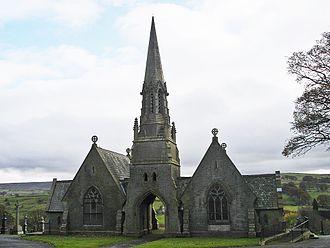Colne - Entrance to Colne Cemetery