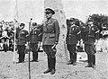 Colonel Carl-Axel Torén (1887-1961) rasing memorial stone in Uppland on 12 June 1949.jpg