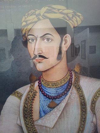 Mathabarsingh Thapa - Portrait of Colonel Mathabar Singh Thapa (1831)