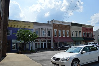National Register of Historic Places listings in Adair County, Kentucky - Image: Columbia courthouse square, southern quadrant