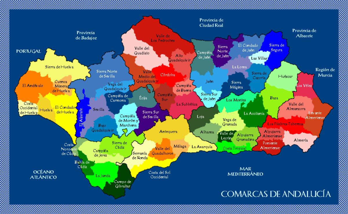 Mapa De La Alpujarra.Comarques D Andalusia Viquipedia L Enciclopedia Lliure
