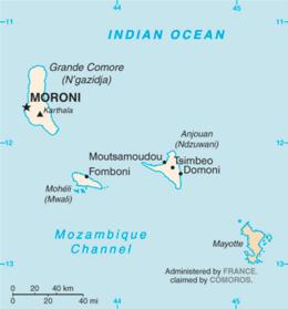 Comore - Mappa