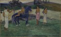 Composition with Figures and a Horse (Paul Gauguin) - Nationalmuseum - 19383.tif