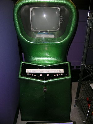 Computer Space - 2-player Computer Space cabinet in 2006, with buttons instead of joysticks