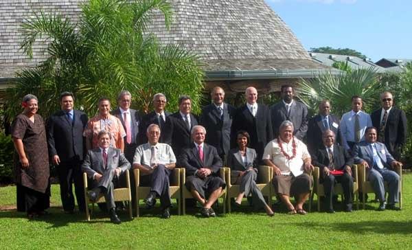 Condoleezza Rice with Pacific leaders in Apia