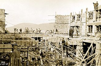 Asheville, North Carolina - Construction of Grove Park Inn, 1912