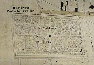 Copou Park - Image: Copou Park (1857 sketch)