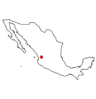 Cora people - location of the Cora territory in present-day Mexico