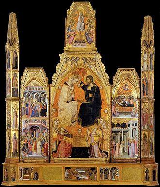 Bartolo di Fredi - Image: Coronation of the Virgin Bartolo di Fredi Montalcino, Museo civico d'Arte sacra