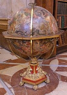 A Baroque era celestial globe