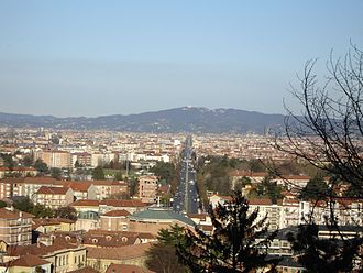 Rivoli, Piedmont - View over the town from the castle in the direction of Turin