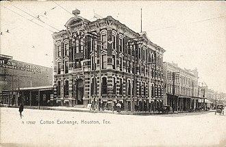 1884 Houston Cotton Exchange Building - Image: Cotton Exchange Building, Houston, Texas (1910)