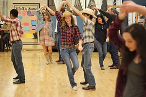 Country-western dance - Country-western dancing in Texas