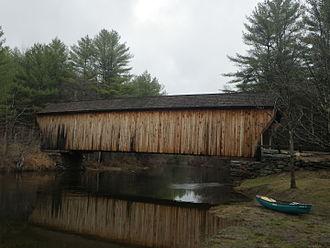 Newport, New Hampshire - Image: Covered bridge, Newport, NH