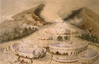 Crater of White Terrace. [1849?]
