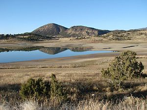 Crawford State Park (Colorado) - Crawford Reservoir at low water in 2007