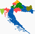Croatian local election results 2013, county prefects.png